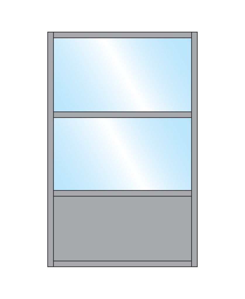 Pavement Screen Samoon Glass Double Top Bottom Panel Colour Sample