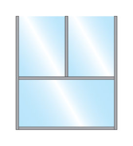 Illustration of Sirocco Terrace Screen Single Straight Glass Bottom Panel with Double Glass Top Panel in Metal Frame