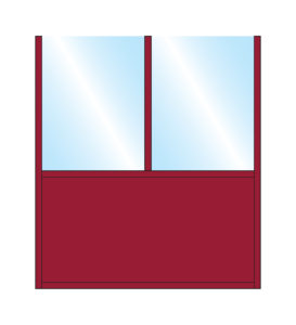 Terrace Partition Sirocco Straight Glass Double Top Bottom Solid Panel Colour Example