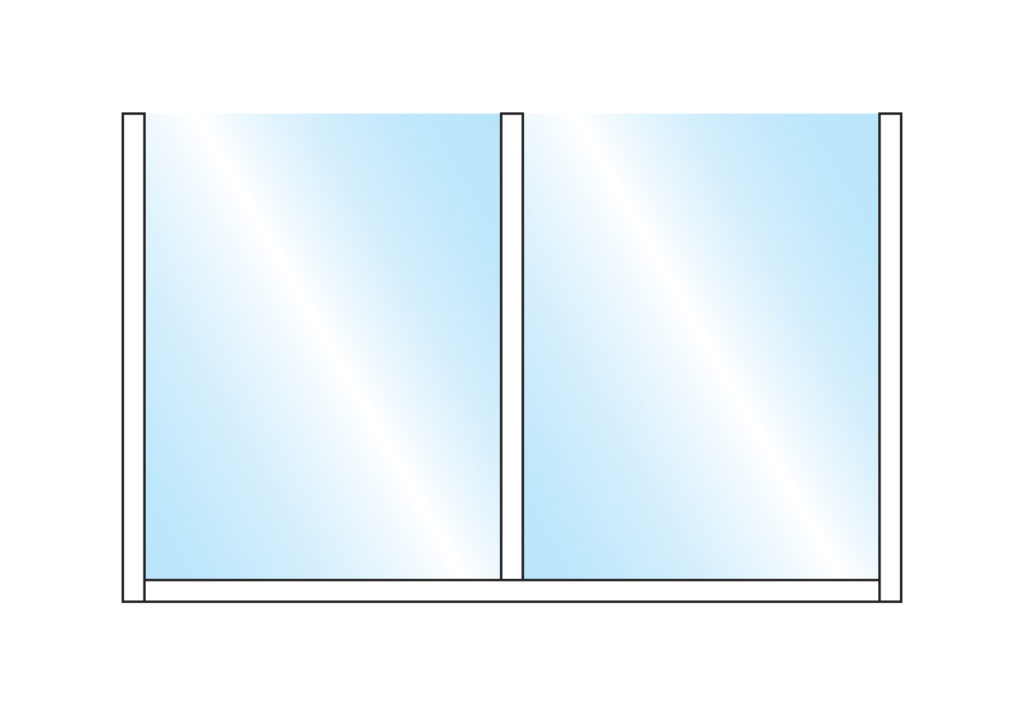 Terrace Screens Pavement Screen Sirocco Straight Glass Double Top Wall Mounting Colour Example
