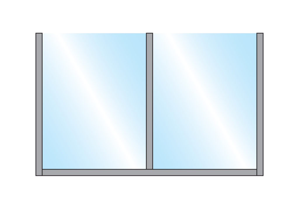Terrace Partition Sirocco Straight Glass Double Top Wall Mounting