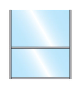Sirocco Terrace Screen Single Straight Glass Bottom & Top Panel with metal frame illustration