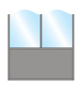 Terrace Screens Pavement Screen Zonda Stylish Arch Top Glass Double Top Bottom Solid Panel Colour Sample