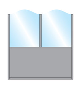 Terrace Screens Pavement Screen Zonda Stylish Arch Top Glass Double Top Bottom Solid Panel