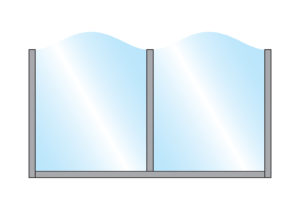 Glass Terrace Screen Zonda Stylish Arch Top Glass Double Top Wall Mounting Colour Sample