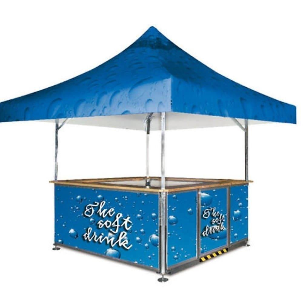 <p>Event, Mobile & Stadia Bars – Square Pavilion – Soft Drinks Bar</p> <p> </p> <p>Fully branded roof and base panels for The Soft Drink</p>