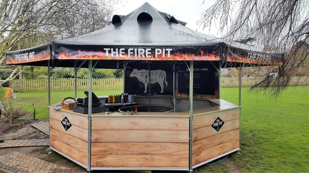 Branded Octagonal Pavilion Barbecue with special roof openings