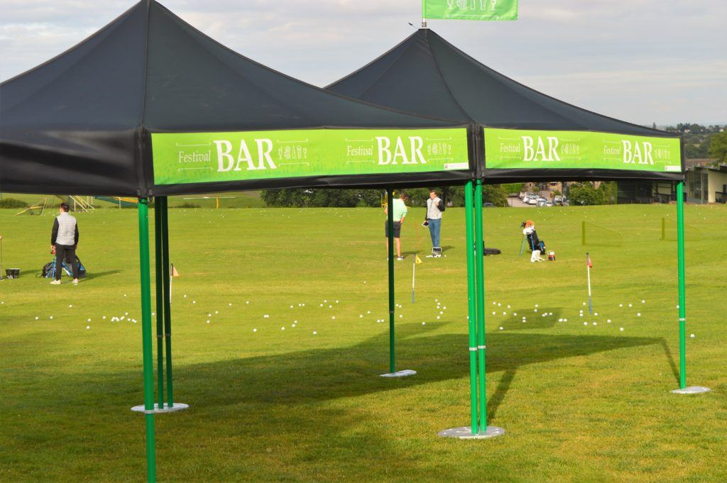 Folding Tent Bars – Classic Folding Tent – Festival Bar with coloured frame