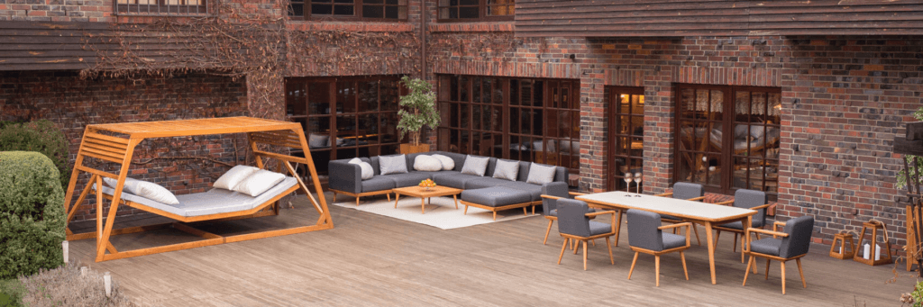 Patio display of furniture from Tempo & Progetto Product Range.