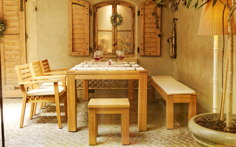 <p>Outdoor Furniture – Wooden Dining Collection Cairo.</p> <p> </p> <p>Restaurant and Bistro quality Dining Furniture.</p> <p> </p> <p>Cairo Wooden Dining Furniture range available as armchair, bench, stool & tables in varying sizes. Ideal for a creating a relaxed indoor or outdoor hospitality area</p>