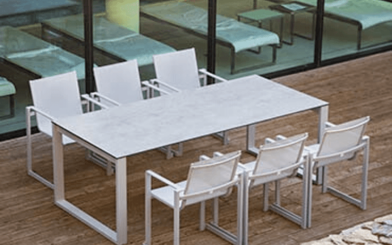 <p>Outdoor Furniture – Metal & Wooden Dining Collection – Adriana</p> <p> </p> <p>Adriana Hotel Restaurant quality Dining Furniture.</p> <p> </p> <p>Fresh, stylish and sophisticated Metal & Wooden Outdoor Dining Furniture includes armchair and table. Elegant, comfortable & durable in all weathers and suitable for indoor and outdoor use.</p>