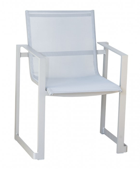 <p>Outdoor Furniture – Metal & Wooden Dining Collection – Adriana Armchair.</p> <p> </p> <p>Adriana Furniture – Armchair with fabric seat and backrest with powder-coated aluminium frame.</p> <p> </p> <p>Fresh, stylish and sophisticated Metal & Wooden Outdoor Dining Furniture includes armchair and tables. Elegant, comfortable & durable in all weathers and suitable for indoor and outdoor use.</p>