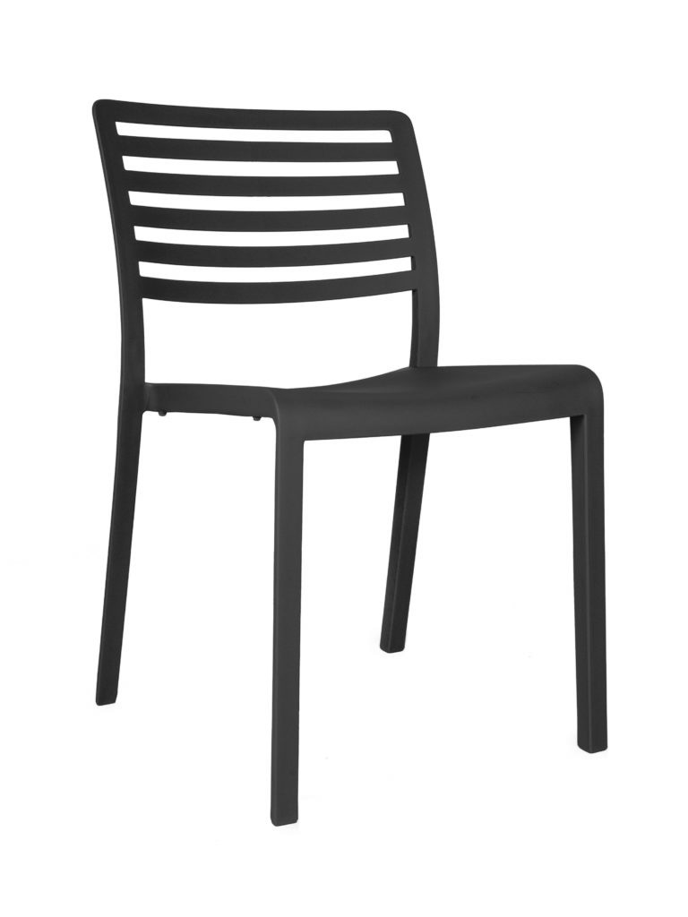 Contemporary Collection Commercial Outdoor Furniture – Amarillo Side Chair - Black