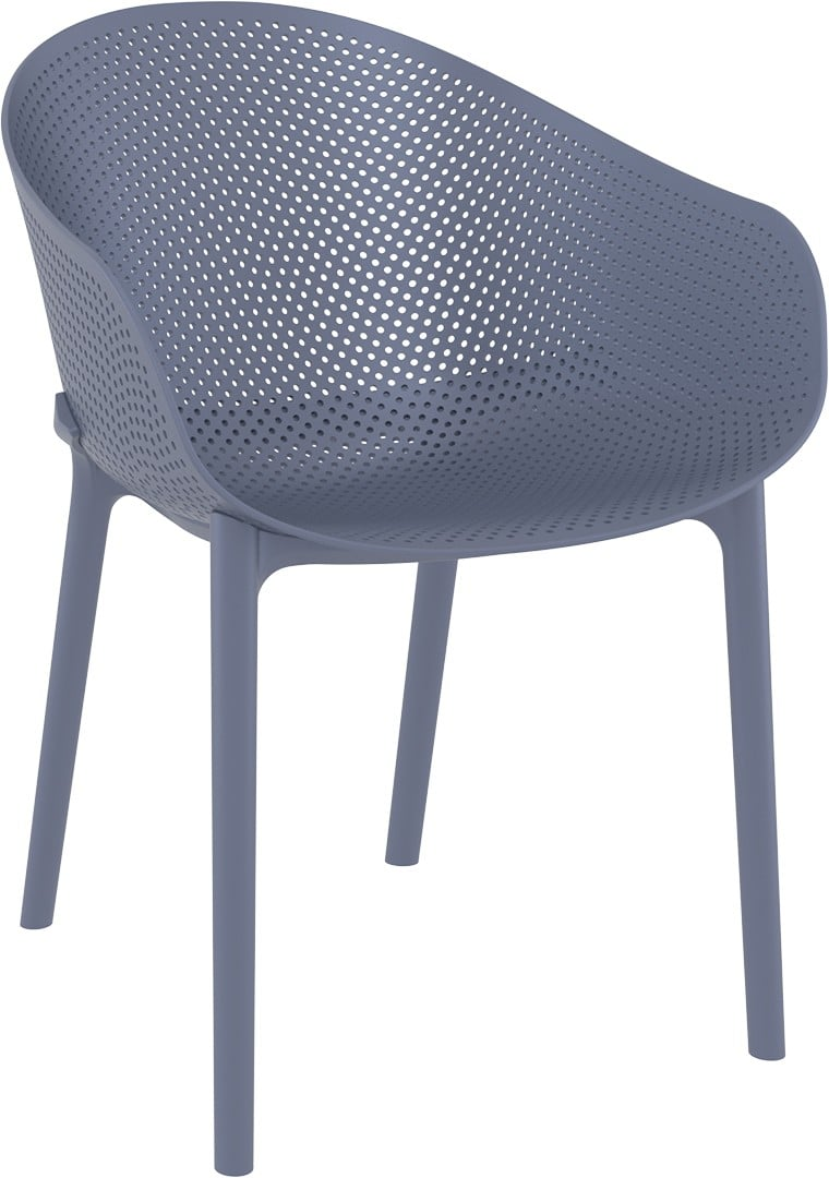 <p>Outdoor Furniture Contemporary Collection – Aventura Armchair – Dark-Grey.</p> <p> </p> <p>Armchair designed for indoor and outdoor use available in a variety of colours, capturing essential features such as clear identity, lightness, stability, functionality, ergonomics and care for the environment. Comfort, Modernity, style and durability</p>