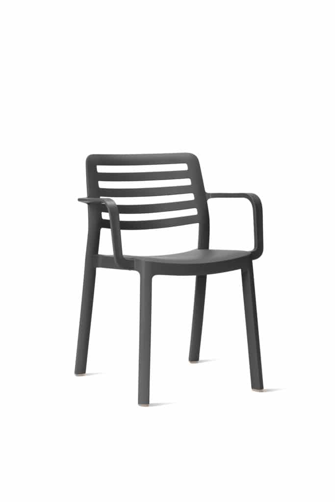 Contemporary Collection Commercial Outdoor Furniture – Baca Armchair - Chocolate