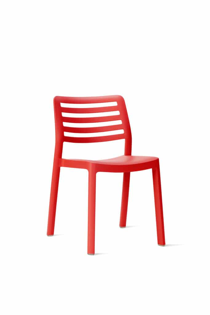 Contemporary Collection Commercial Outdoor Furniture – Baca Chair - Red