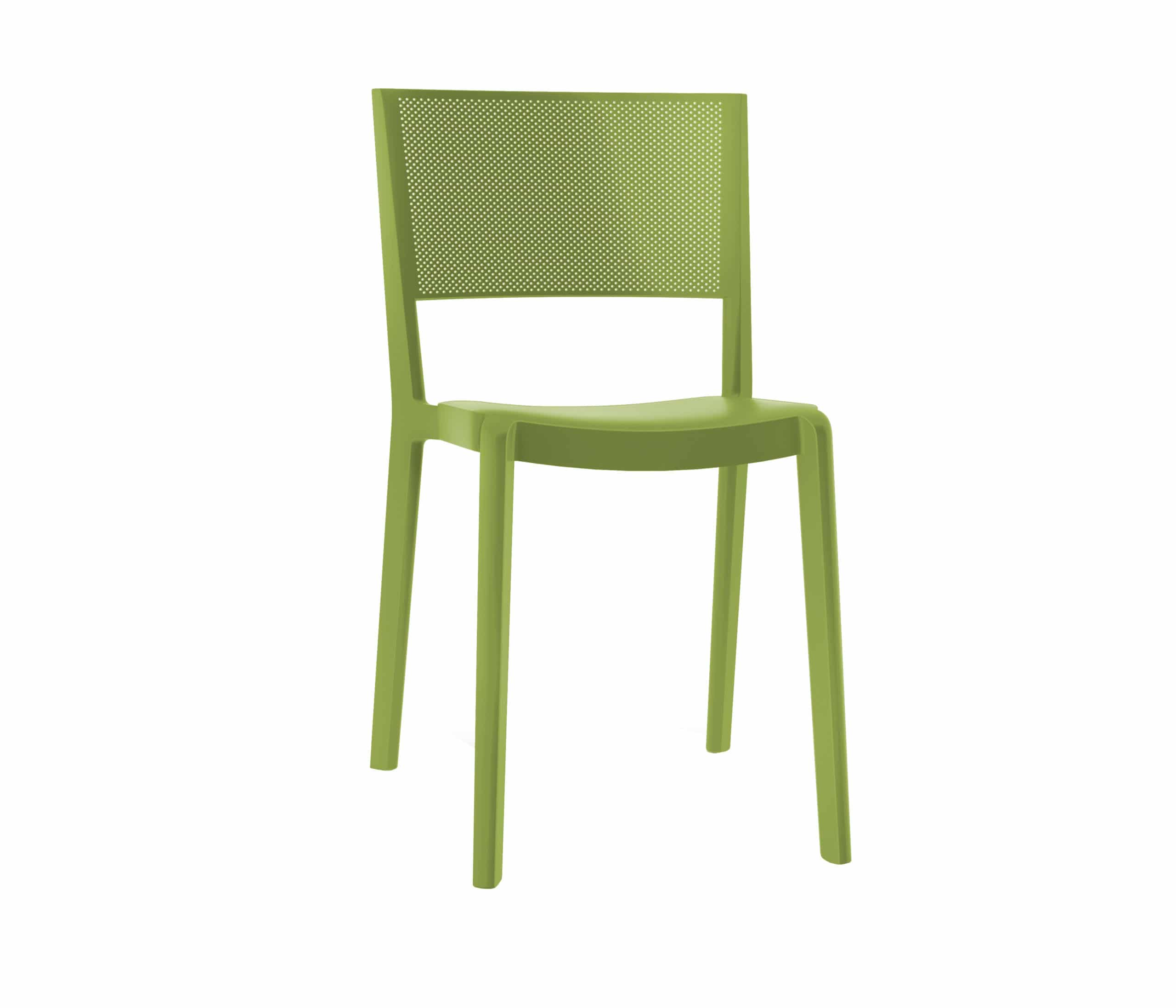 <p>Outdoor Furniture Contemporary Collection – Bernardino Chair – Olive Green.</p> <p> </p> <p>Chair specially designed for indoor and outdoor small spaces available in a variety of colours, stackable & UV Protection, capturing essential features such as lightness, stability, functionality, ergonomics and care for the environment.</p>