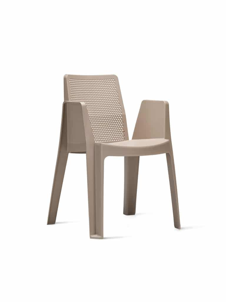 Contemporary Collection Commercial Outdoor Furniture – Bexar Armchair - Sand