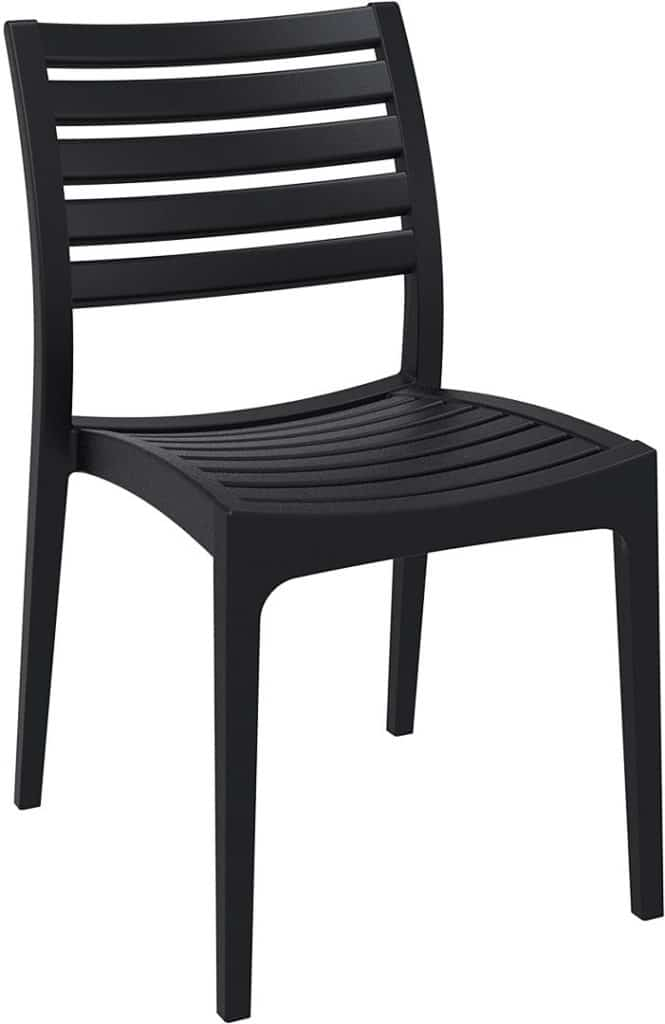 Contemporary Collection Commercial Outdoor Furniture – Delray Side Chair –Black