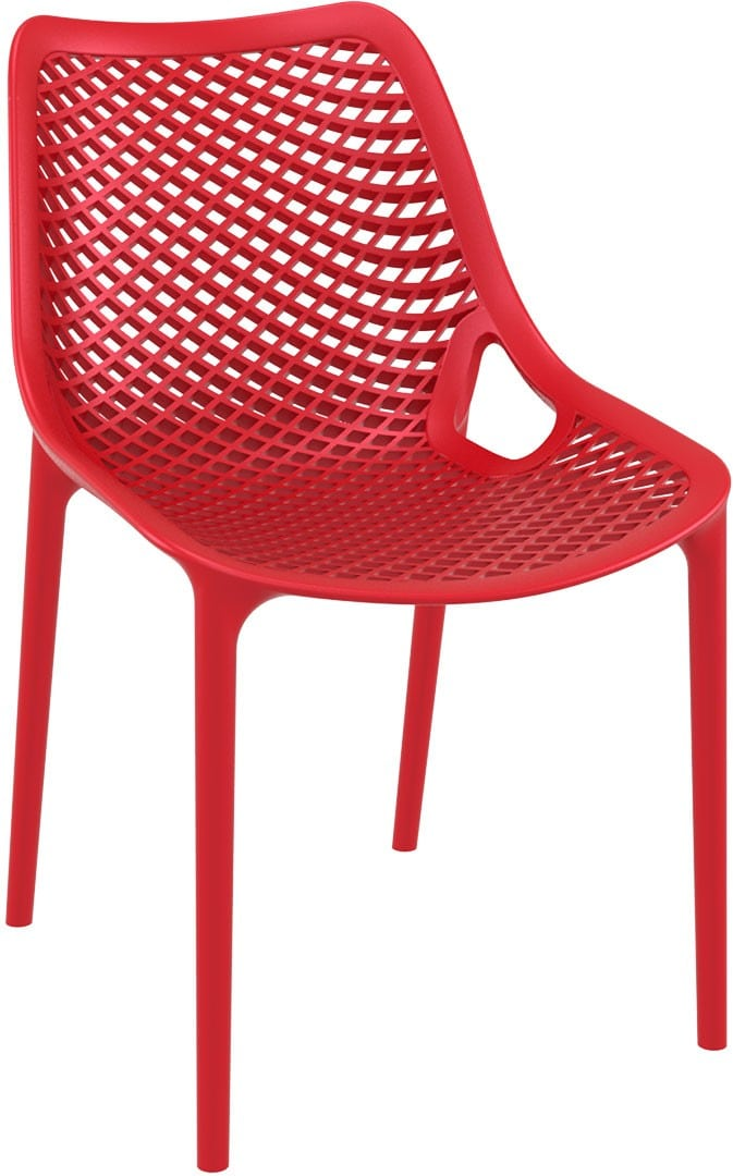 <p>Outdoor Furniture Contemporary Collection – Eldorado Side Chair – Red.</p> <p> </p> <p>Side Chair – often referred to as the Grid Chair, designed for indoor and outdoor use capturing essential features such as lightness, stability, functionality, ergonomics and care for the environment. Comfort, Modernity, style and durability</p>