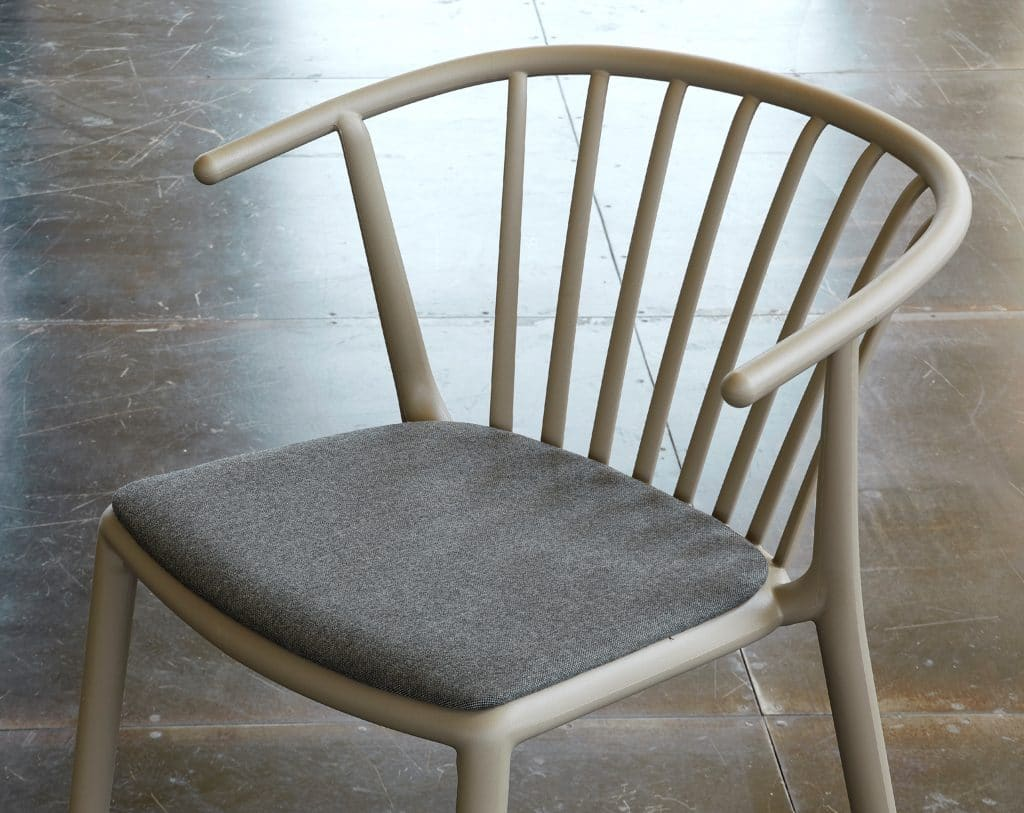 Contemporary Collection Goleta Woody Upholstered Outdoor Dining Chair available in various colours
