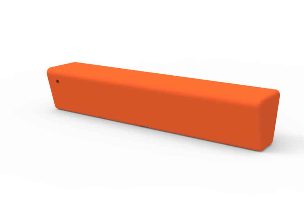 Outdoor Commercial Furniture Contemporary Collection – Hermosa Straight Bench – Orange