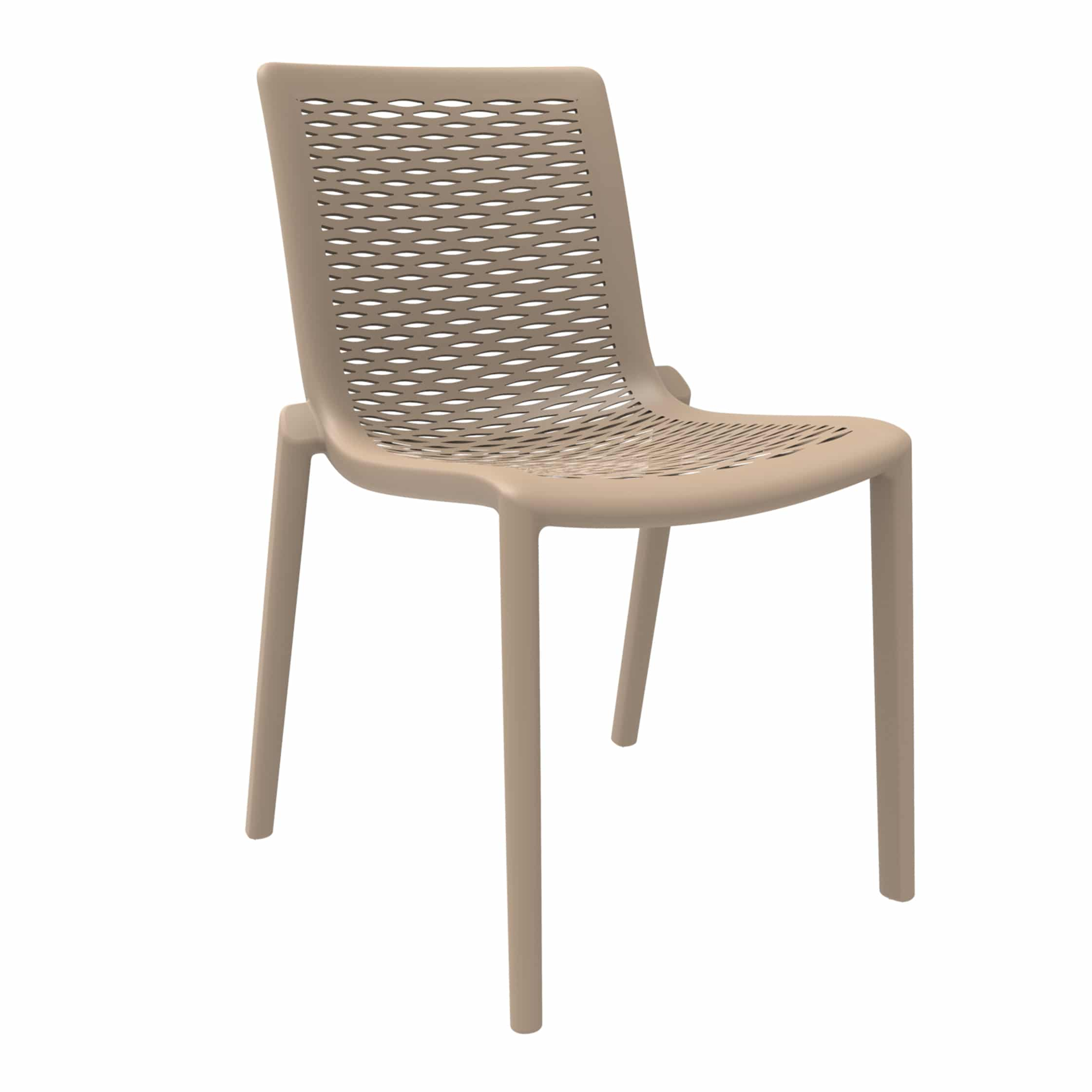<p>Outdoor Furniture Contemporary Collection – Manteca Chair – Chocolate.</p> <p> </p> <p>Chair specially designed for indoor and outdoor available in a variety of colours, stackable, capturing essential features such as lightness, stability, functionality, ergonomics and care for the environment. Unassuming in design and look</p>