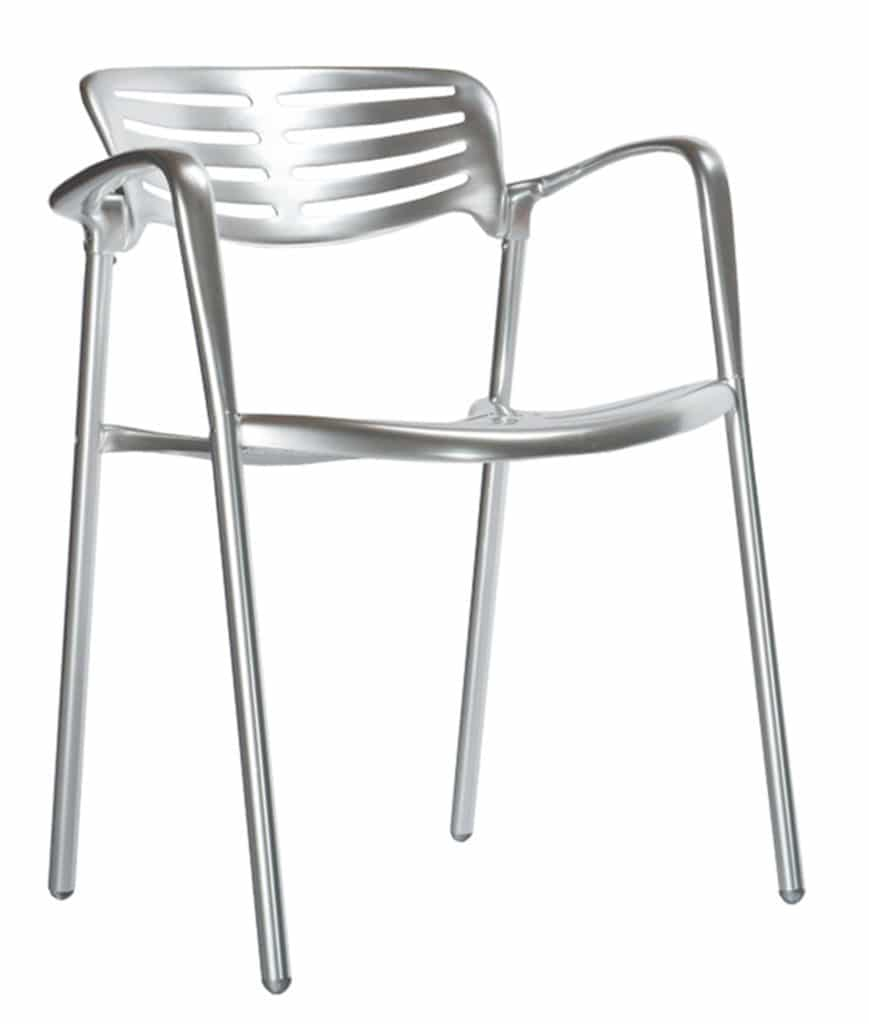 Contemporary Collection Modesto polished aluminium Chair
