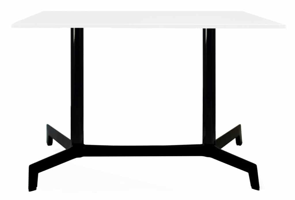 Outdoor Furniture Contemporary Collection – Navarre Commercial Dining Table – Double Pedestal – Black Base