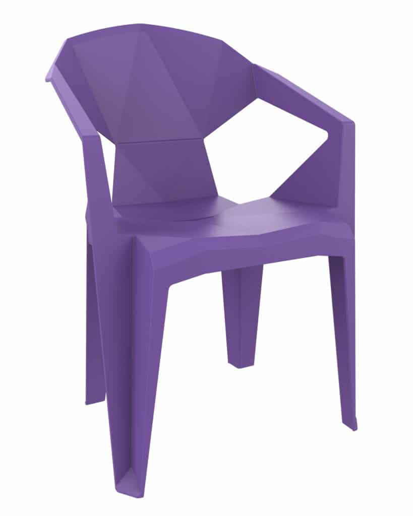 Contemporary Collection Commercial Outdoor Furniture – Paco Armchair - Violet