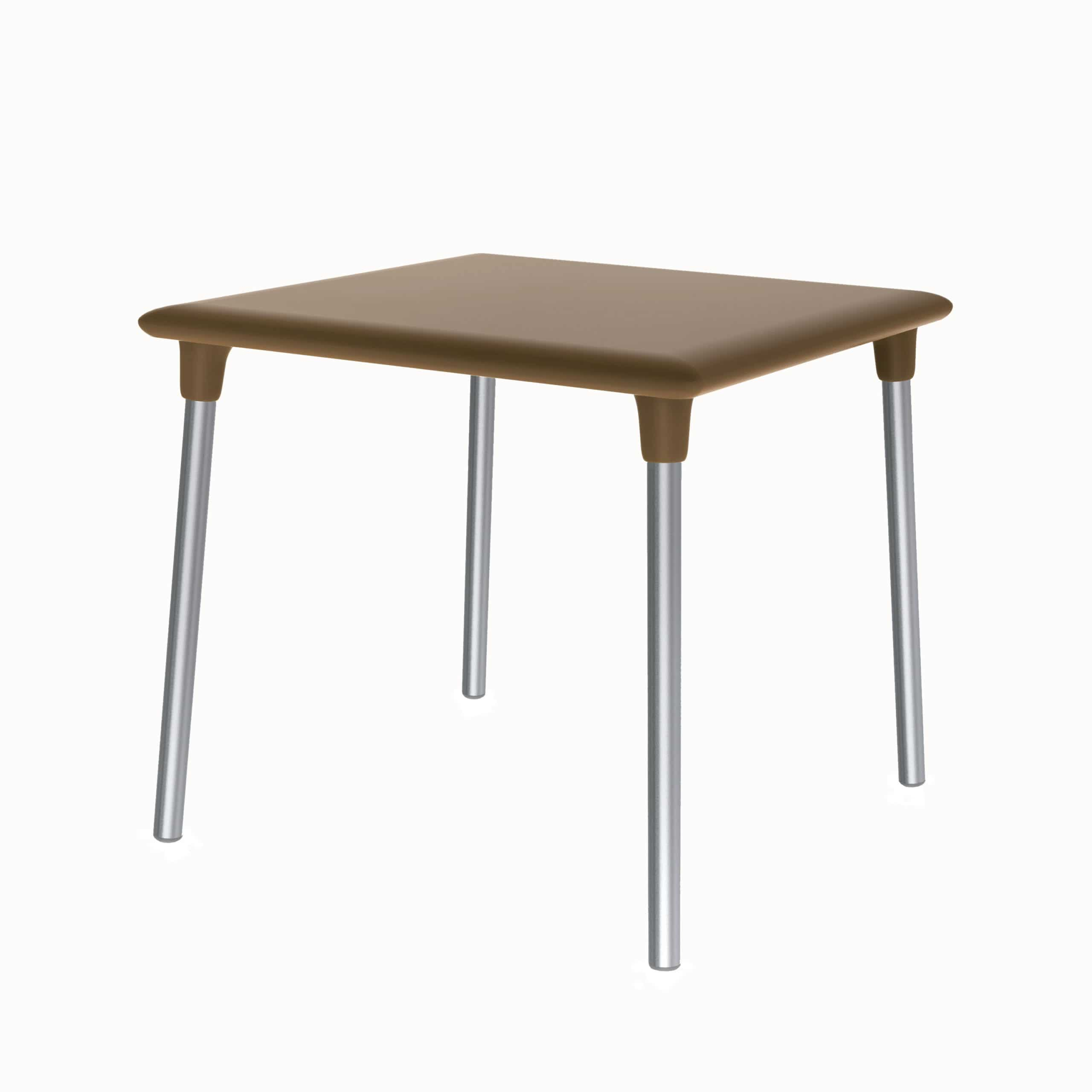 <p>Outdoor Furniture Contemporary Collection – Resaca Commercial Dining Table – Steel Legs – Brown Tabletop.</p> <p> </p> <p>Table for indoor and outdoor use. Combine with chairs of your choice.</p> <p> </p> <p>Adaptable to any environment being designed by architects. Rounded shape offers comfort, whilst capturing essential features such as elegance lightness, functionality, ergonomics and care for the environment.</p>