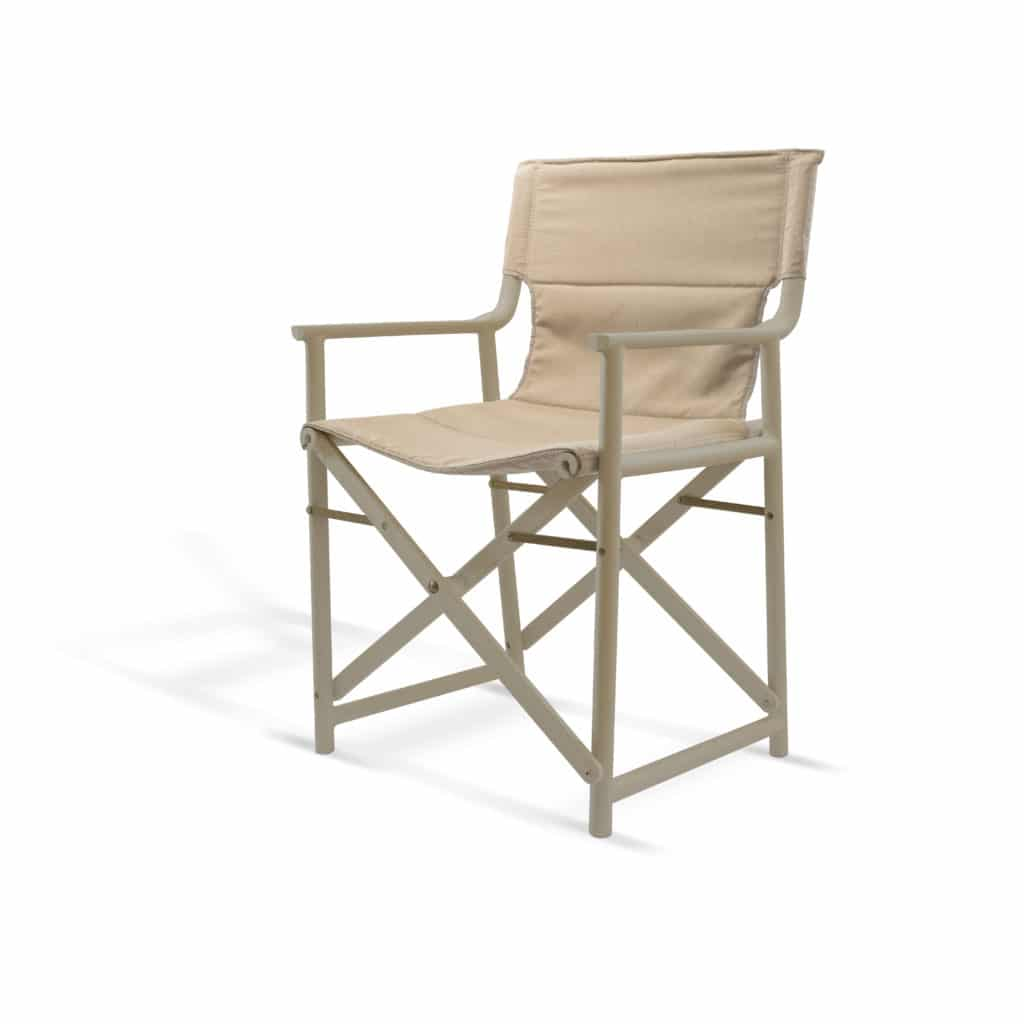 Contemporary Collection Commercial Outdoor Furniture – Sierra Armchair – Chocolate Frame & Sand Textile