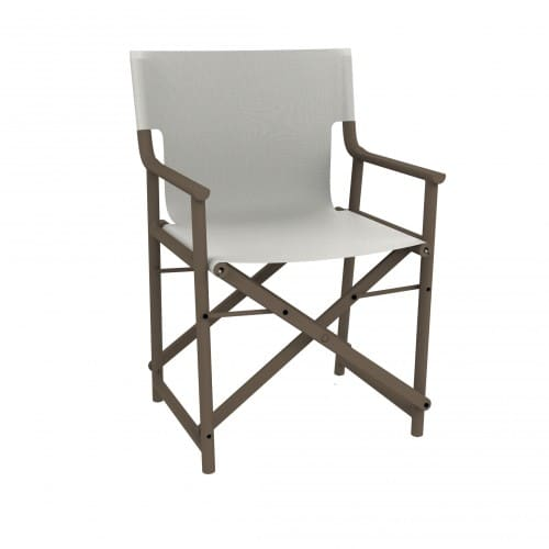 <p>Outdoor Furniture Contemporary Collection – Sierra Armchair – Chocolate Frame & Sand Textile.</p> <p> </p> <p>Foldable and easy to transport armchair designed for indoor and outdoor use available in a variety of colours, capturing essential features such as lightness, stability, functionality, ergonomics and care for the environment. Adaptable to a variety of hospitality environments</p>