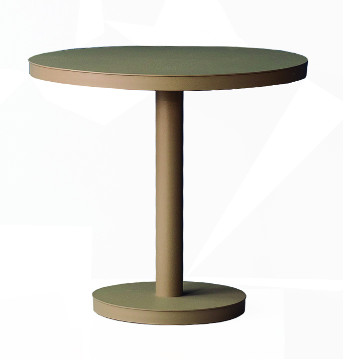 <p>Outdoor Furniture Contemporary Collection – Vega Commercial Dining Table – Round Pedestal.</p> <p> </p> <p>Table for indoor and outdoor use. Combine with chairs/stools of your choice.</p> <p> </p> <p>Adaptable to any environment being designed by architects. Captures essential features such as elegance lightness, functionality, ergonomics and care for the environment.</p>