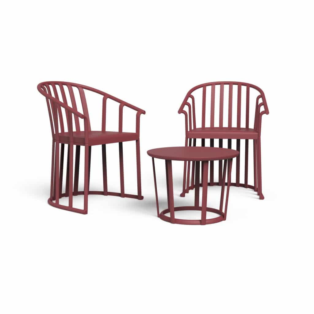 Outdoor Furniture Contemporary Collection – Vino Set – Burgundy