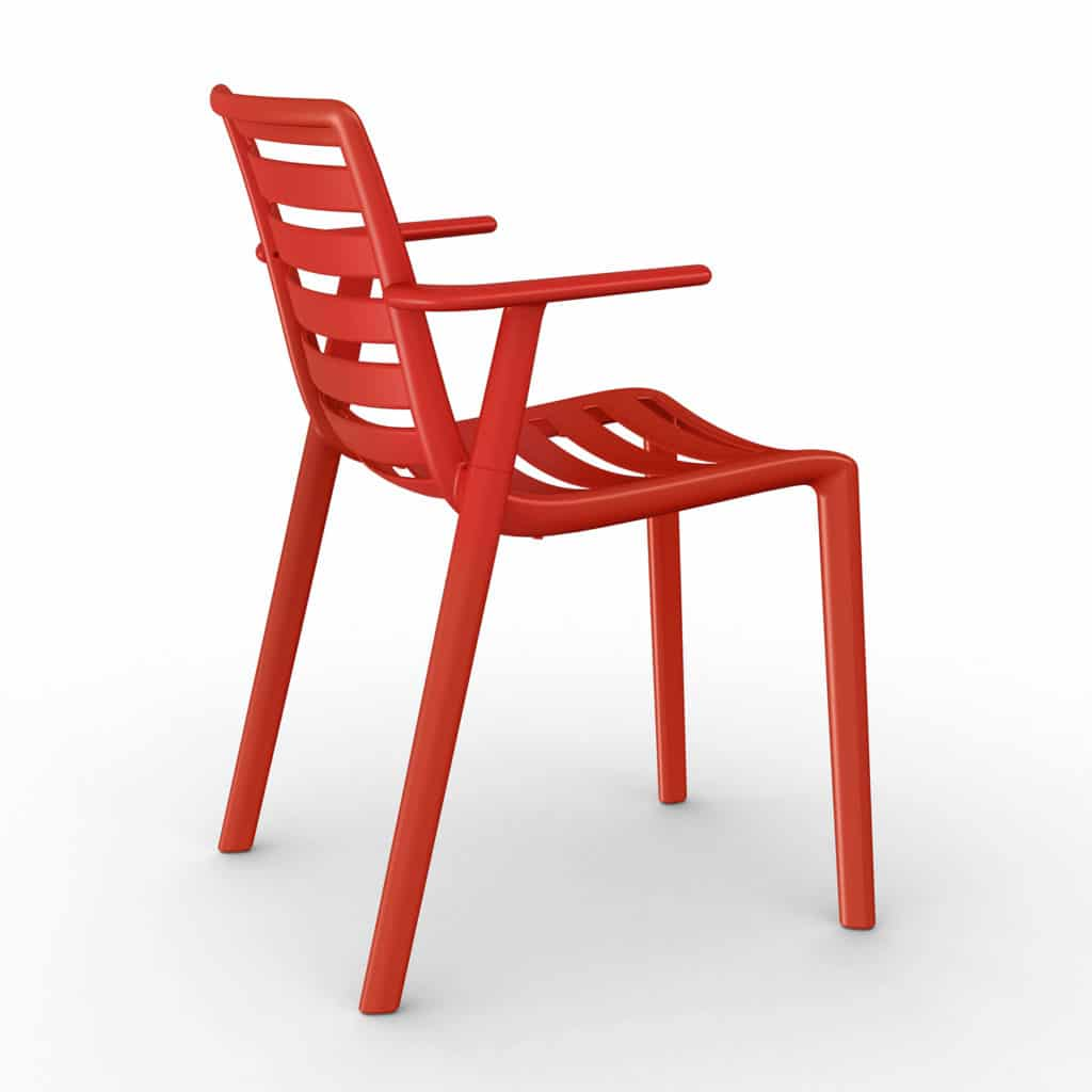Contemporary Collection Commercial Outdoor Furniture – Ysleta Armchair – Red