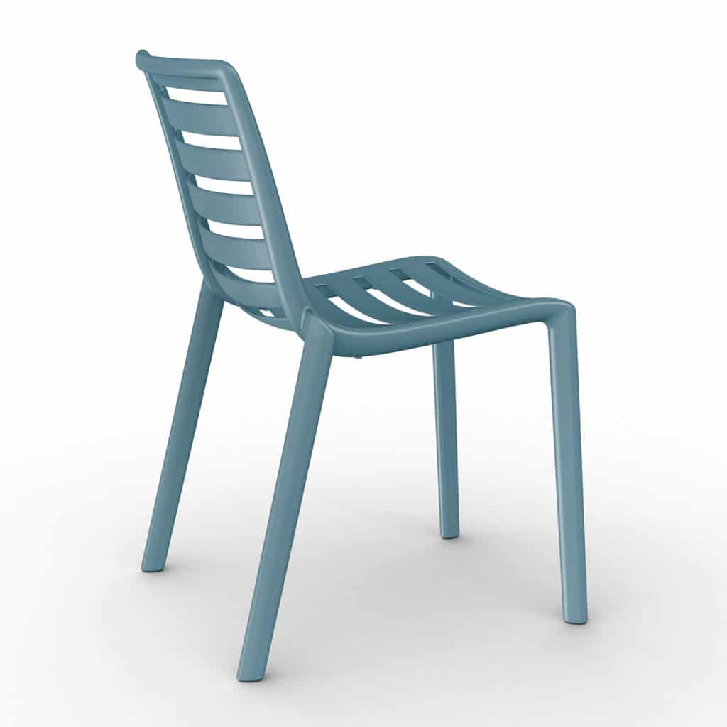Contemporary Collection Commercial Outdoor Furniture – Ysleta Chair – Retro Blue