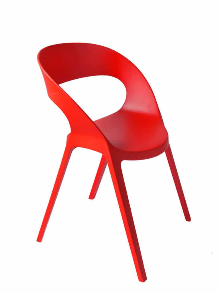Contemporary Collection Commercial Outdoor Furniture – Zapata Chair - Red