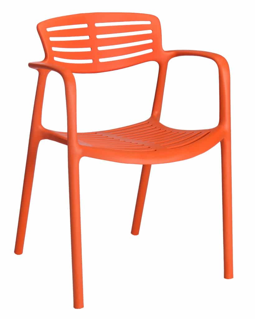 Contemporary Collection Yuno Toledo Aire Outdoor Dining Chair with arms available in various colours
