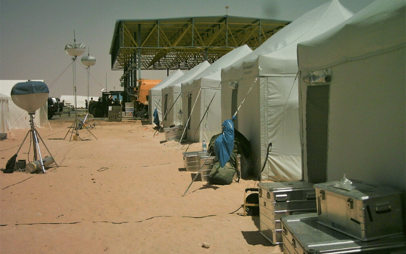 Special Triage Tent in a field hospital situation