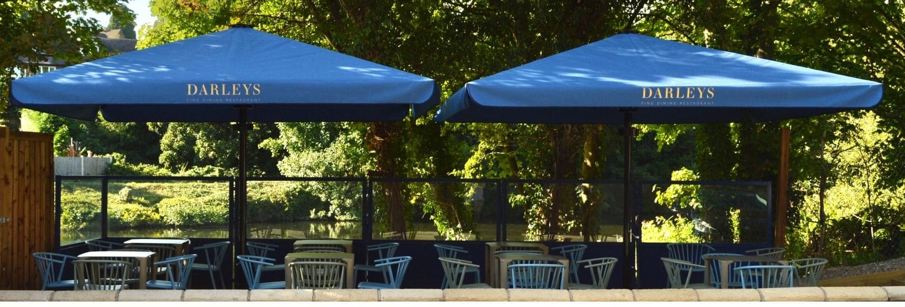 Our Terrace Screens At Riverside Restaurant