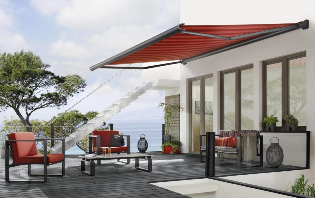 Markilux Awnings Solar Protection 990 Compact Awning Coffee Lounge Terrace