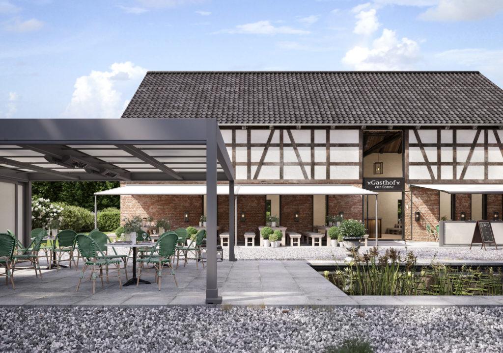 Markilux Awnings Solar Protection Markant Restaurant Terrace