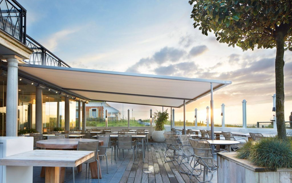 Markilux-Awnings-Solar-Protection-Pergola Standard Cafe Terrace Covering