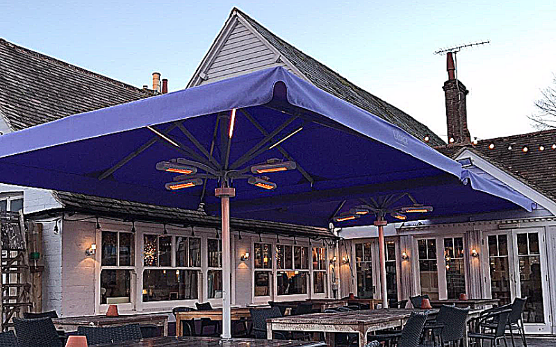 <p>Parasols-Bella-Commercial-Umbrella-Pub-Beer-Garden</p> <p></p> <p>Stylish Parasol offering the ideal shade solution providing comfort and protection from the environmental conditions be it blazing hot sunshine or pouring rain.</p> <p></p> <p>Popular not just within the hospitality industry and associated sectors, but also the parasol of choice of commercial and residential customers who demand high quality</p> <p></p> <p>Demonstrating usage of heating and lighting accessories</p>