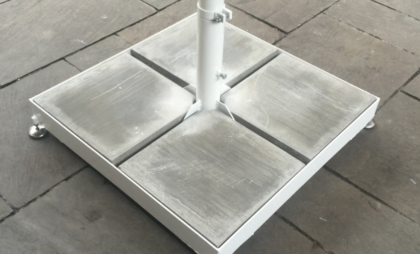 Portable Base Plate fixing alternative for Elegant Umbrella when other base options are not possible