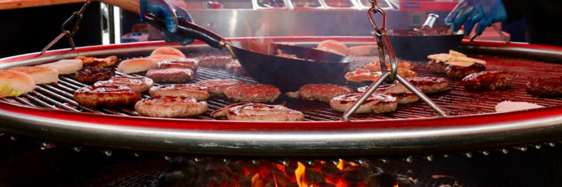 <p>Sanki Swinging Grill – Cooking Grate</p> <p>Showing variety of menu items, which can be cooked.</p> <p>Suitable for any hospitality venue looking to extend their menu offering and maximise the use of their outdoor space whilst relieving the kitchen staff</p>