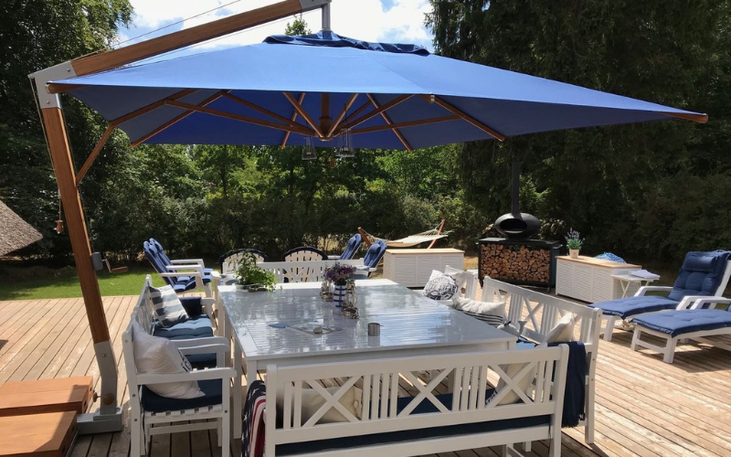 <p>Parasols – Cantilever Capri – Commercial Hotel Terrace Shade Cover</p> <p></p> <p>Stylish and beautiful laminated bamboo commercial parasol offering the ideal shade solution providing comfort and protection from the environmental conditions be it blazing hot sunshine or pouring rain.</p> <p></p> <p>Popular because of the side pole structure within the hospitality industry and associated sectors, but also the parasol of choice of commercial and residential customers who demand high quality and free floor space</p>