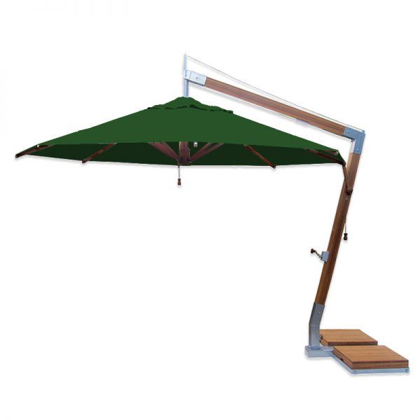 <p>Parasols – Cantilever Capri – Round Forest Green</p> <p>Elegant Stylish smooth look umbrellas offering the ideal shade solution, providing comfort and protection from the environmental conditions be it blazing hot sunshine or rain.</p> <p>Popular not just within the hospitality industry and associated sectors, but also the parasol of choice of commercial and residential customers who demand high quality and style</p> <p>Impressive & versatile and designed to enhance any outdoor area.</p>