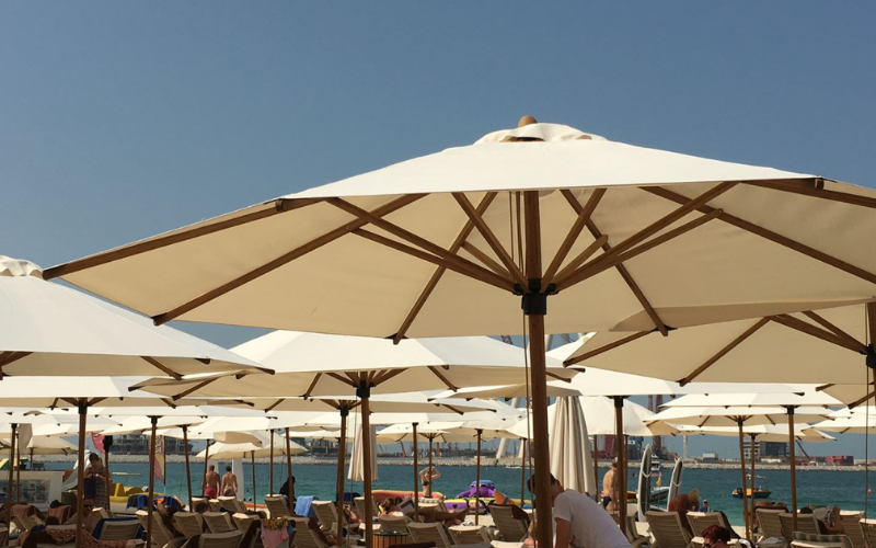 <p>Parasols Kara – Bamboo Lightweight Centre Pole Terrace Shade Umbrella</p> <p></p> <p>Premium, stylish, lightweight, and beautiful high-grade natural laminated bamboo centre pole commercial & residential parasol offering the ideal shade solution providing comfort and protection from the environmental conditions be it blazing hot sunshine or pouring rain.</p> <p></p> <p>Suitable for commercial settings, but equally at home in residential settings too – lightweight size enabling customers to experience a continental atmosphere</p>